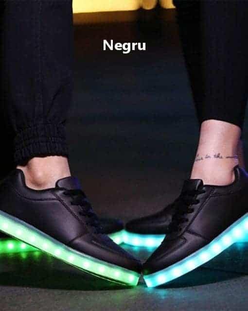 Adidasi LED Negri unisex