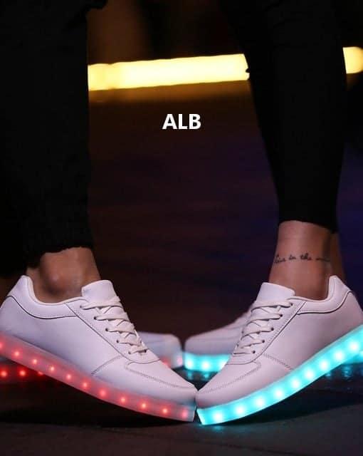 Adidasi LED UNISEX Alb