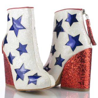 Botine glitter cu toc Star YRU