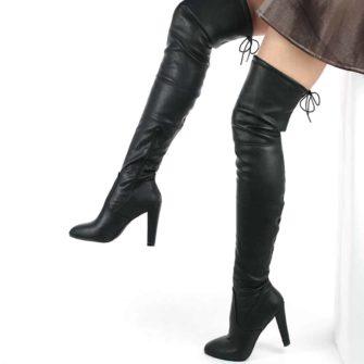 Cizme lungi peste genunchi Pixie PU