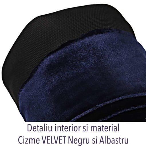 Detaliu interior cizme Velvet