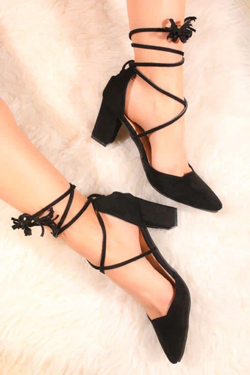 Pantofi cu toc comozi StepNegru