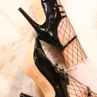 Pantofi cu toc de 10 cm JaspalNegru