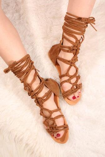 Sandale cu snur pe picior VelvetMaro