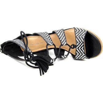 Sandale INDIGO black and white
