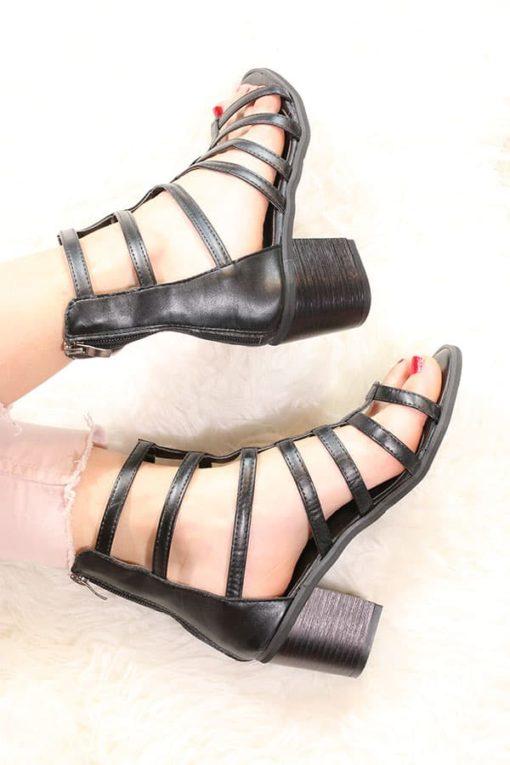 Sandale romane cu toc LowH