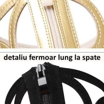 detaliu fermoar lung la spate