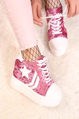 pantofi sport dama cu talpa inalta BravoRoz