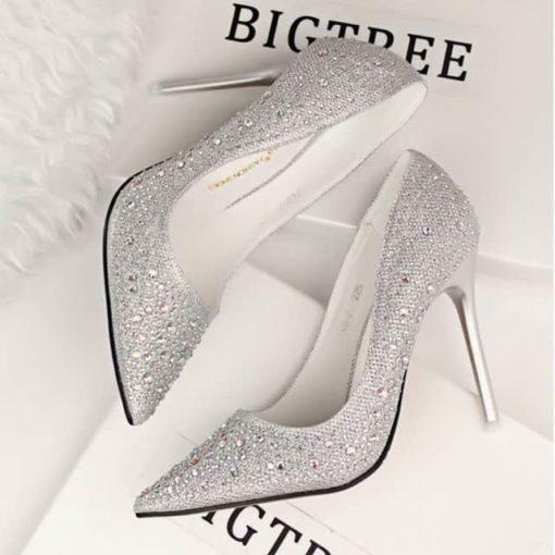 pantofi stiletto cu strasuri