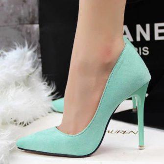 pantofi stiletto turcoaz